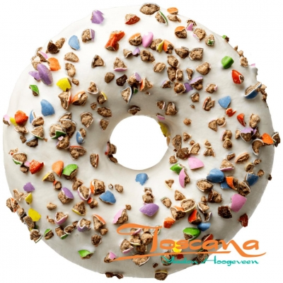 CRUSHED CANDY WHITE DONUT